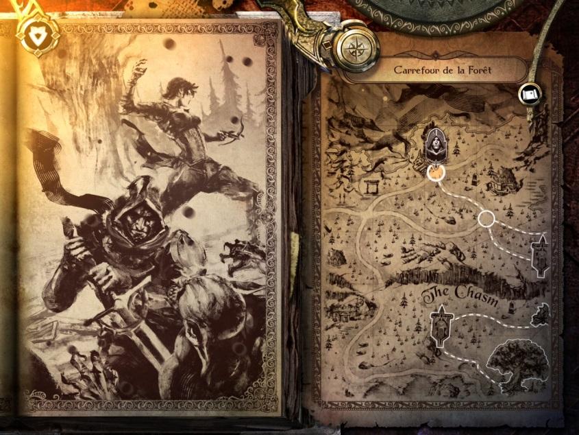 Le jeu vidéo Joe Dever's Lone Wolf – De Neige de Sang, traduit en français par Scriptarium